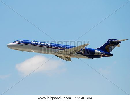 Midwest Airlines Passenger Jet Departing