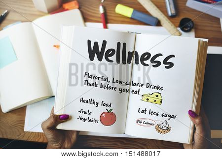 Healthy Diet Notes To Do List Concept