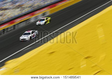 Concord, NC - Oct 09, 2016: Trevor Bayne (6) battles for position during the Bank of America 500 at the Charlotte Motor Speedway in Concord, NC.