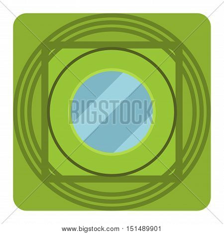 House window vector element isolated on white background. Window element flat vector style. Vector window frame isolated on white