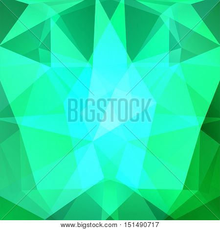 Abstract Polygonal Vector Background. Neon Green Geometric Vector Illustration. Creative Design Temp
