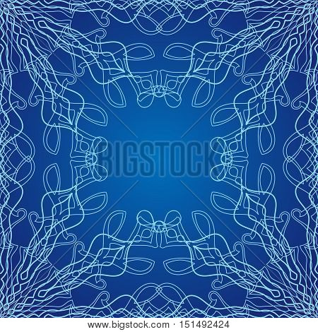 Vector lace winter seamless pattern. For the festive decoration of your work
