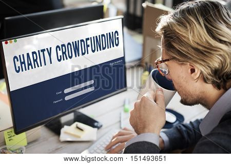 Charity Crowdfunding Financial Supporters Concept