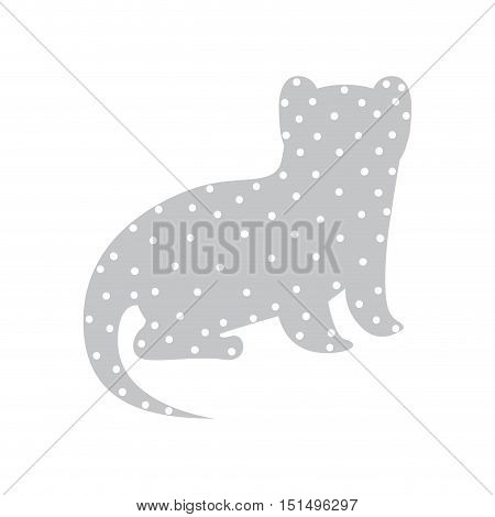 Pattern with nutria wild animal color vector illustration