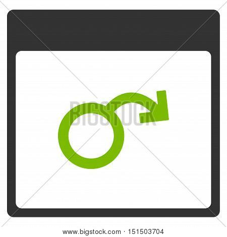 Impotence Calendar Page vector icon. Style is flat graphic bicolor symbol, eco green and gray colors, white background.