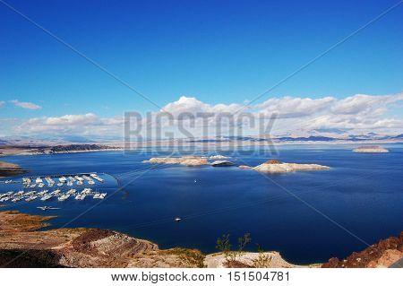 Lake Mead National Recreation Area near Hoover Dam in Nevada, USA.