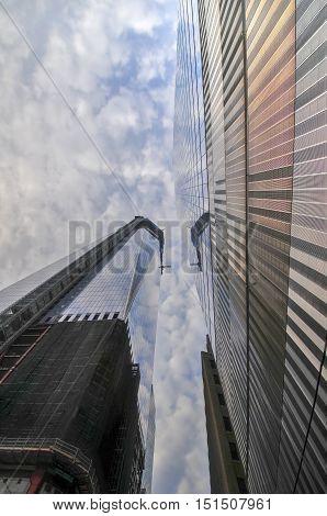 World Trade Center Under Construction