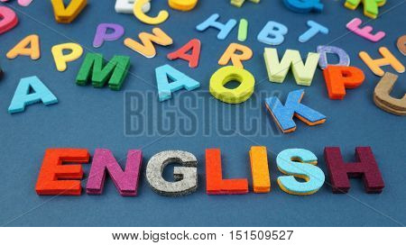 English in colorful wording
