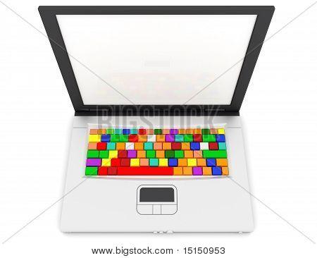 Computer Keyboard In Rainbow colors