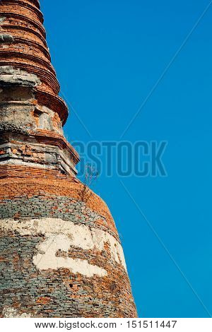 Phra Nakhon Si Ayutthaya Thailand- February 8 2016 : Pagoda of Wat Krasai Temple is older than 200 years old by the way this place has a story about the mystery.