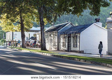 Arrowtown, New Zealand - February 2016: Historic Settlement Of Arrowtown