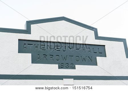 Arrowtown, New Zealand - February 2016: Close Up Details Of Old Classic Building On Buckingham Stree