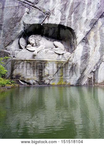 The Lion Monumenthe Lucerne, Switzerland,