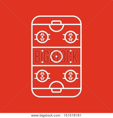 Ice Hockey Rink icon. Game symbol. Flat Vector illustration