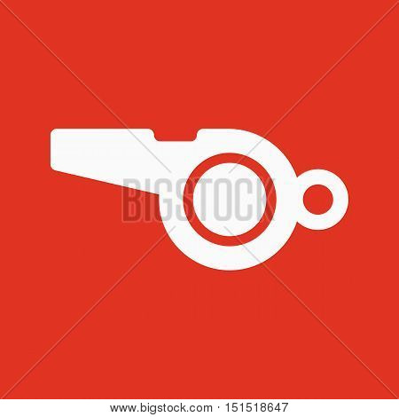 The whistle icon. Referee symbol. Flat Vector illustration