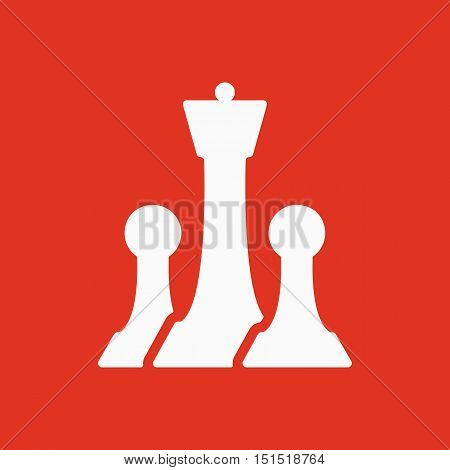 The chess icon. Game symbol. Flat Vector illustration