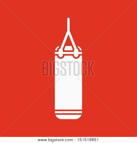 The Punching Bag icon. Boxing symbol. Flat Vector illustration