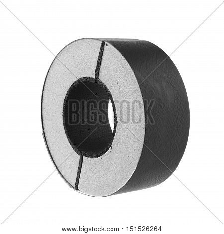 Pipe Insulation Rigid Foam Type isolated on white Background