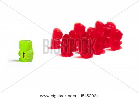 Gummy Bear Being Rejected By Other Coworkers