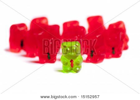Photo Of Leader Gummy Bear Amonst Business Bears
