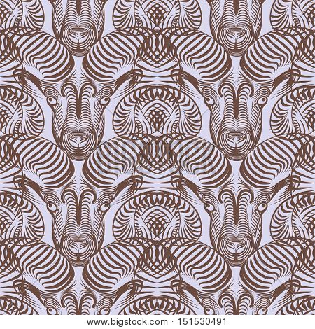 Repaint seamless pattern: simple Aries. Easy to recolor vector pattern