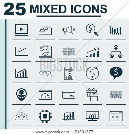Set Of 25 Universal Icons On Money Trasnfer, Successful Investment, Investment And More Topics. Vect
