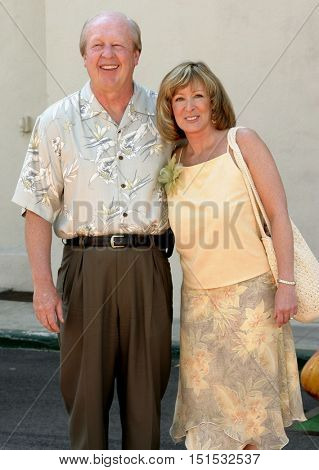 Jim Davis and Jill Davis at the Los Angeles premiere of 'Garfield: The Movie' held at the Zanuck Theater in Los Angeles, USA on June 6, 2004.