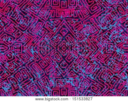 Background with unusual geometric shapes. Abstract elements texture. Dark grunge surface. Modern geometry wallpaper. Trendy vector background for web design or printed products.