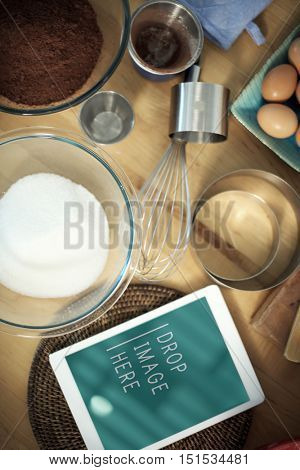 Bakery Baking Cook Eggs Pastry Ingredients Concept