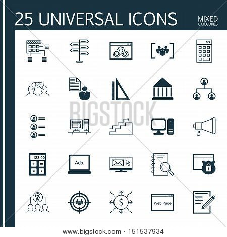 Set Of 25 Universal Icons On Cooperation, Money, Collaborative Solution And More Topics. Vector Icon