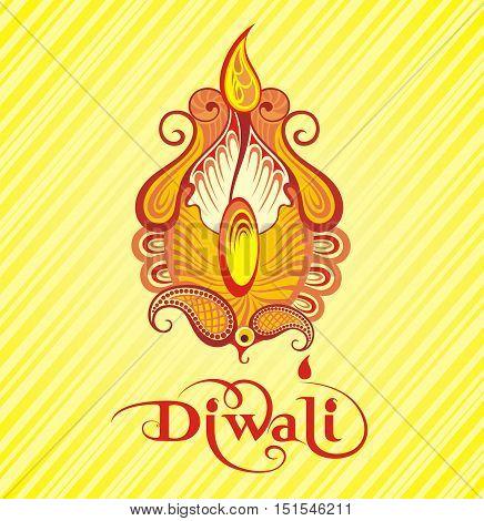Festival of diwali celebration background. Diwali illustration
