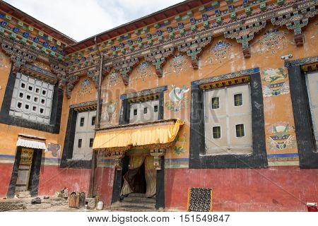 Tibet architecture. Sakya monastery is a pilgrim and tourist destination. Its religious structure is influenced by Mongol style.