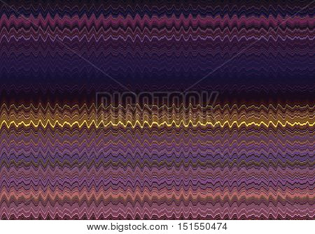 abstract mostly purple pattern of sharp waves with yellow ones in the middle