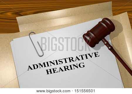 Administrative Hearing - Legal Concept