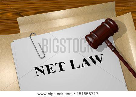 Net Law - Legal Concept