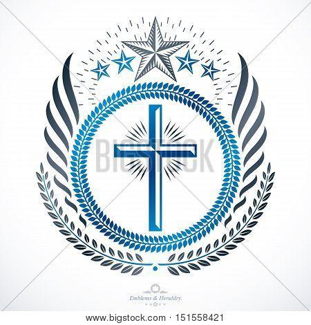 Classy emblem vector heraldic Coat of Arms.