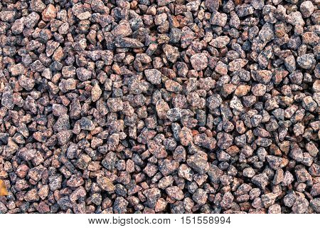 Abstract background with decorative floor pattern of gravel stones