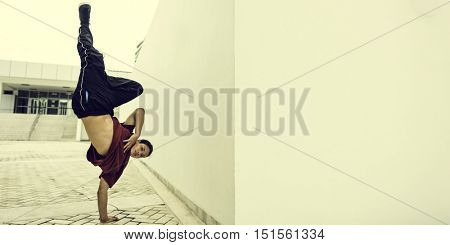 Breakdance Teenager Style Movement Hiphop Concept