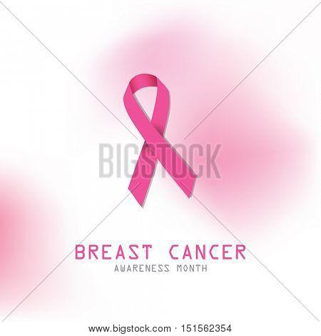 Pink ribbon. Symbol for breast cancer awareness.