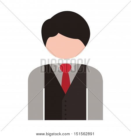 half body men blazer caucasian vector illustration