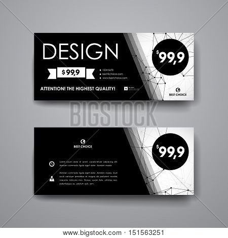 Set of modern design banner template in Molecular structure style. Beautiful design and layout