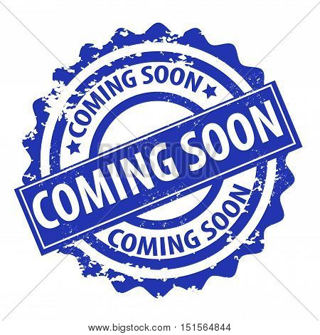 Coming soon stamp isolated on white background
