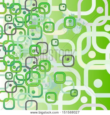Bio cells as squares. Concept illustration. Seamless abstract pattern. Vector EPS10 illustration.