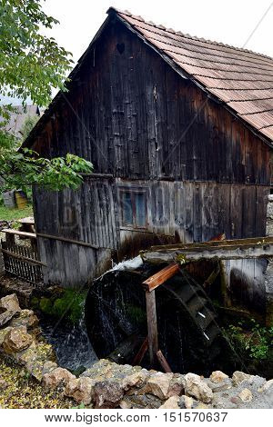 Old Functional Working Mill Wheel