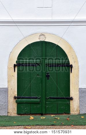 Entrance Door To A Basement, Cellar
