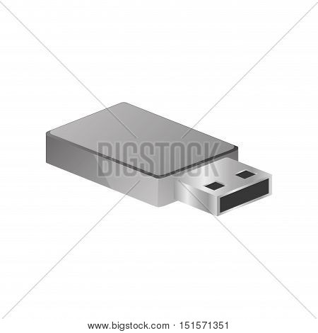 tech small pen drive device vector illustration