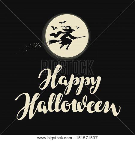 Happy Halloween banner. Vector illustration. Holiday greeting card