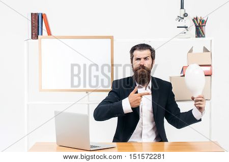 Employee Points At Big Bulb