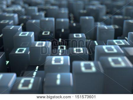 Binary Code Pixels