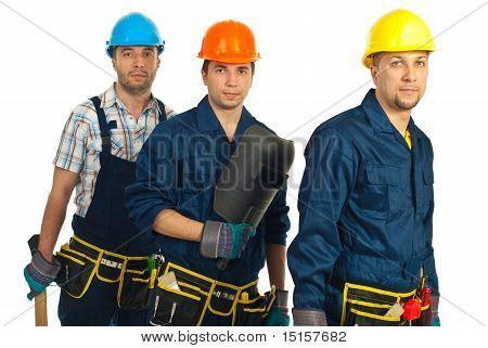 Teamwork Of Builders Men